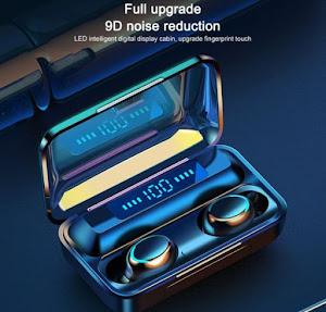 Casti Bluetooth cu dock si touch TWS Wireless BTH-F9-5, In ear