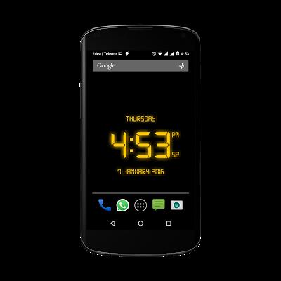Free LED Digital Clock LWP - screenshot