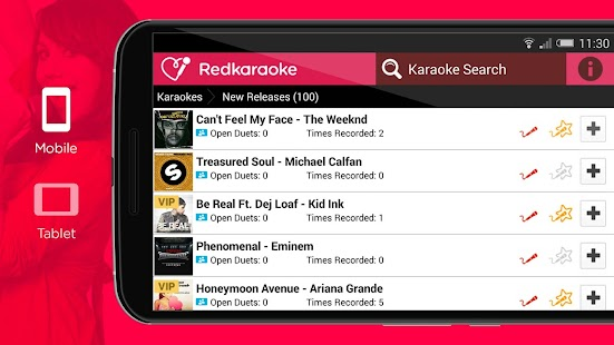 Red Karaoke Sing & Record- screenshot thumbnail