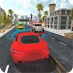 Autonomous Drive Car 3D Icon