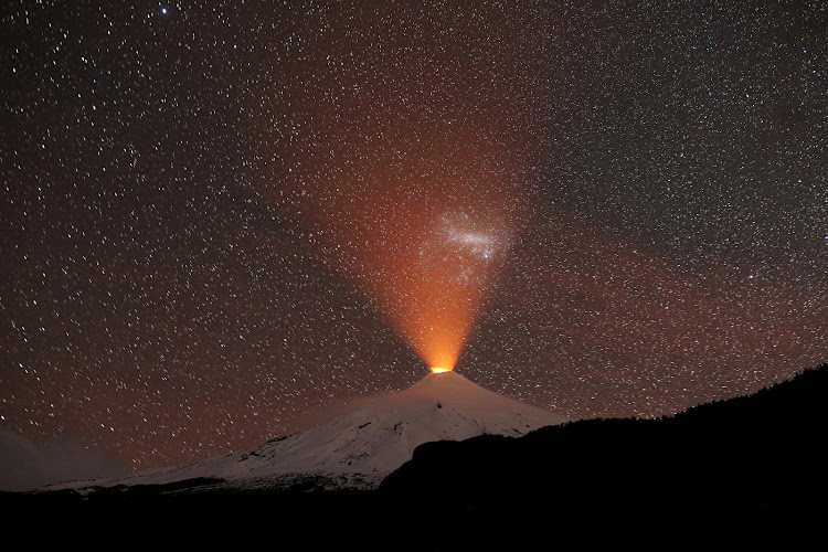 The Villarrica Volcano in Chile.