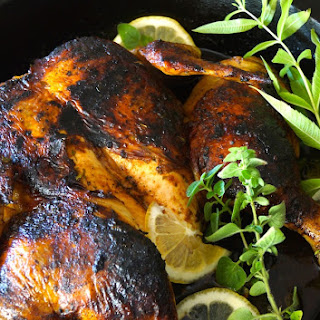 Smoky Paprika Lemon Herb Chicken Under a Brick