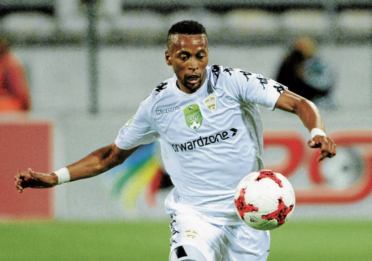 Manti Mekoa of Stellenbosch FC during the Nedbank Cup match against Kaizer Chiefs. Picture: THINUS MARITZ/GALLO IMAGES