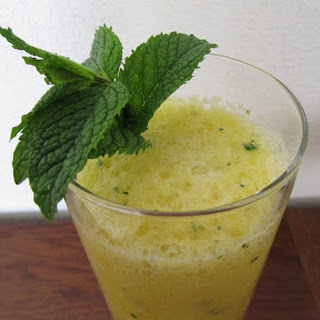 Pineapple and Mint Smoothie.