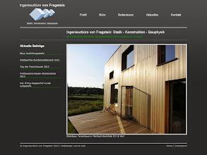 Photo: Referenz Webdesign: Ingenieurbüro von Fragstein GmbH (HTML5/CSS3, WordPress)
