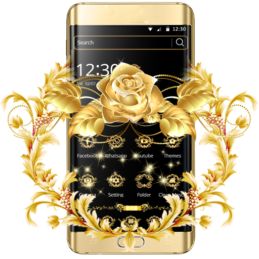 Gold Rose Theme Luxury Gold file APK for Gaming PC/PS3/PS4 Smart TV