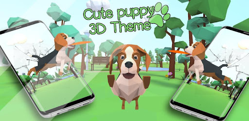 3d Cute Puppy Theme Lovely Dog Wallpaper Apps On Google Play