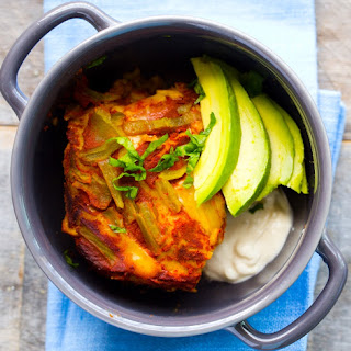 Easy Vegan Enchilada Casserole.