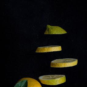Levitate of Lemon by Rene Timbang - Food & Drink Fruits & Vegetables ( #lemon #fruits #levitation #food&drinks #creativity #artwork )