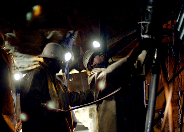 Mine workers.  Picture: SUNDAY TIMES