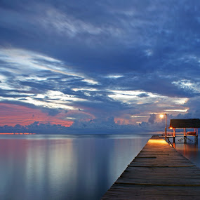 Morning at Beach by Mulawardi Sutanto - Landscapes Waterscapes ( indonesia, kucng, beach, travel, morning )