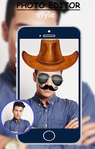 Man photo editor mustache style and goggles 2018 2.0 screenshots 1