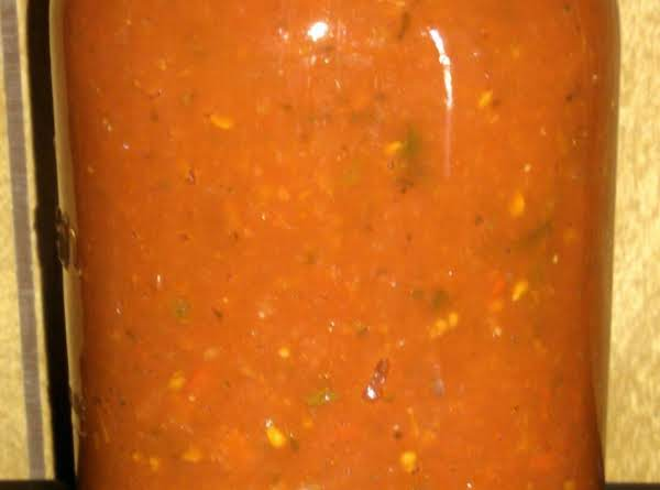 I Leave The Meat Out Of The Sauce When I Can It And Then When We're Ready For A Spaghetti Dinner, I Just Brown The Meat And Add The Sauce!  If You Don't Have A Canner, This Sauce Freezes Well Also.