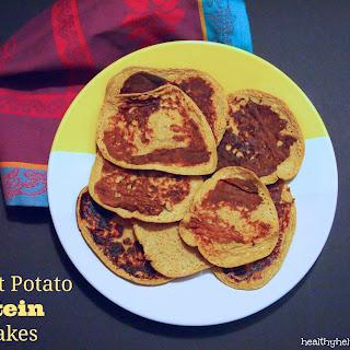 Sweet Potato Protein Pancakes.
