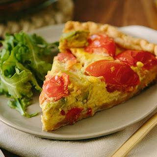 Tomato and Avocado Quiche