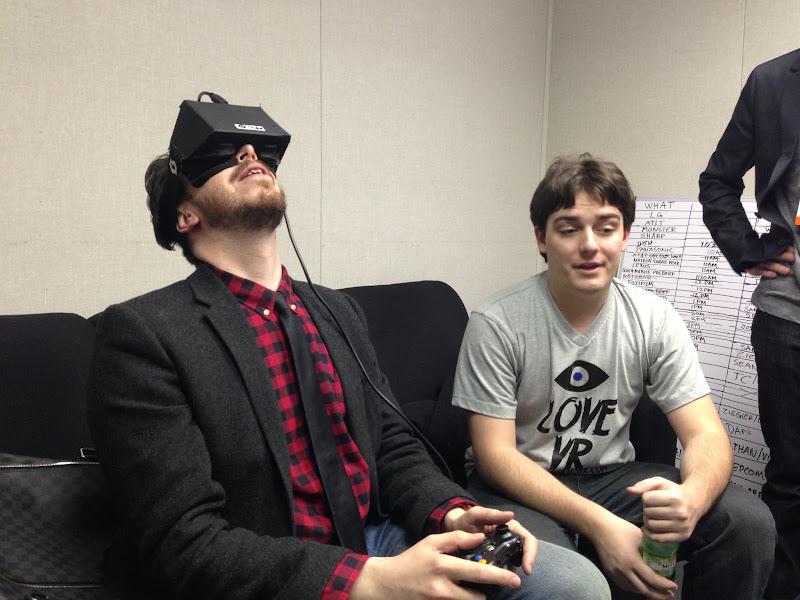 Photo: Joshua Topolsky and the Oculus Rift