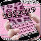 Pink leopard Keyboard Theme icon