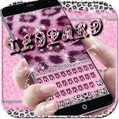 Pink leopard Keyboard Theme
