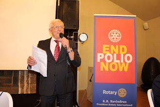 Photo: Usch inviting to the 2016 Rotary World cycling Championships.