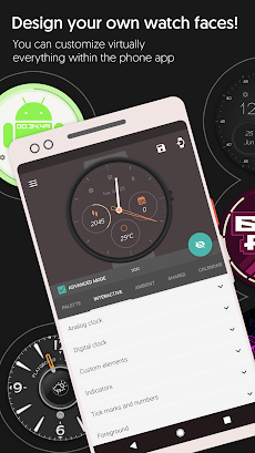 Watch Face - Pujie Black - Wear OS & Galaxy Watchのおすすめ画像1
