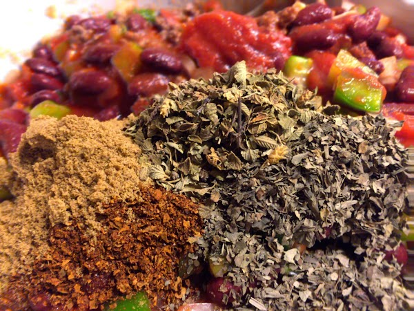 Add the salt and pepper with the remaining spices, mixing in well. Cover with...