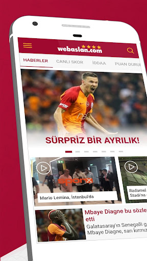 Webaslan - Galatasaray haberleri & Canlı Skor 4.22.09 screenshots 1