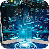 Galaxy Alien Tech Launcher Theme