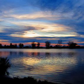Beyond Blue by Howard Sharper - Landscapes Waterscapes ( riverside, sunset, blue hour, cloudscape, reflections,  )