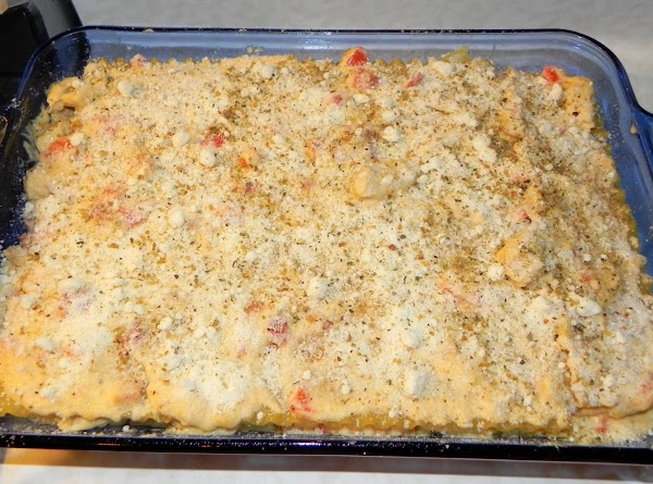 Sprinkle with Parmesan cheese. Cover with foil; refrigerate at least 4 to 6 hours.