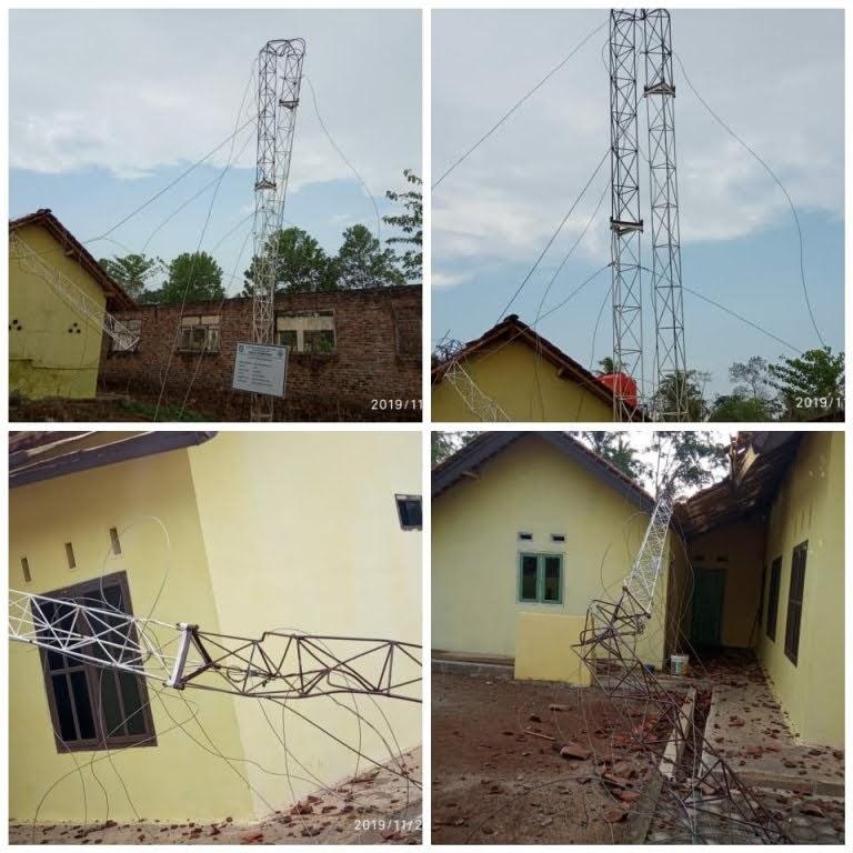Bapak Kapolres Pringsewu Yang Terhormat : Tolong Usut Kades Pekon Purwodadi Terkait Tower WiFi Internet Yang Ambruk