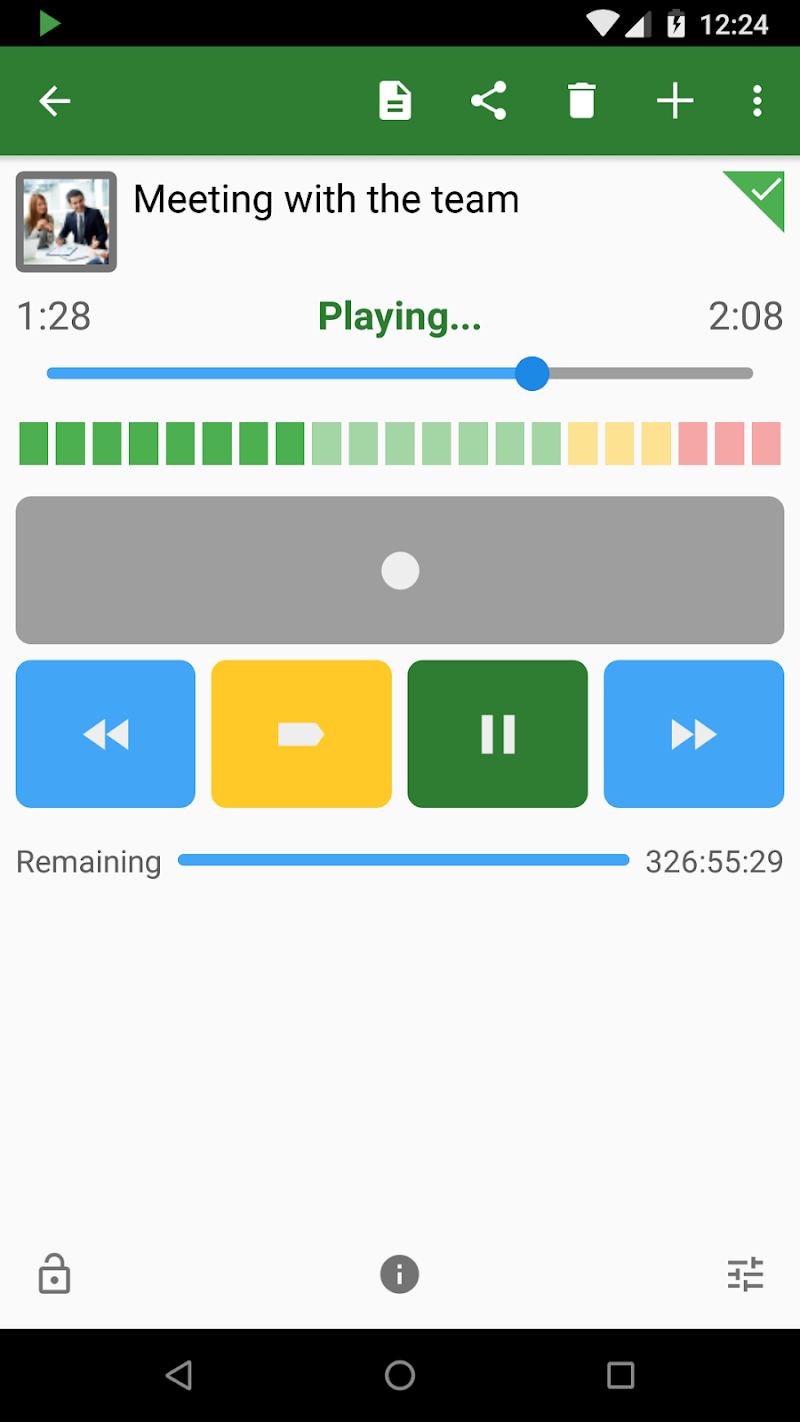 Dictadroid Voice Recorder Screenshot 3