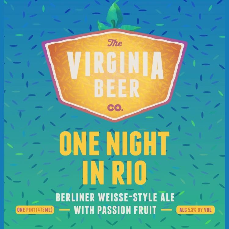 Logo of Virginia Beer Co. One Night In Rio