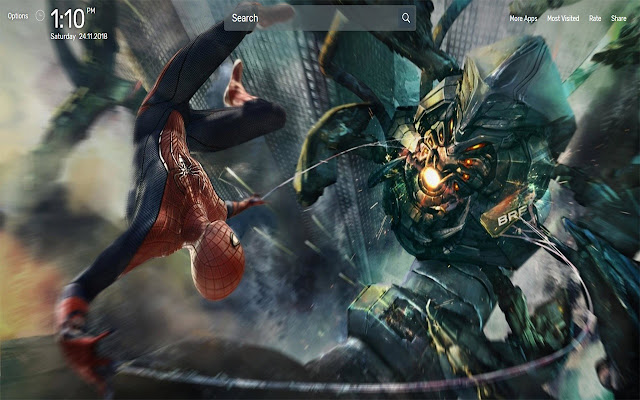 Amazing Spider Man Wallpapers NewTab Theme