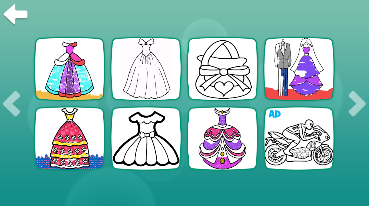 Glitter Dresses Coloring Book Drawing Pages Download Apk Free For Android Apktume Com