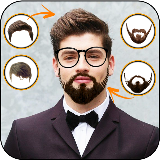 Beard and mustache face changer- Fancy hairstyle
