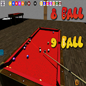 3D billiards 8 and 9 ball icon