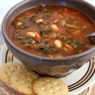 Crockpot Vegetable & White Bean Soup.