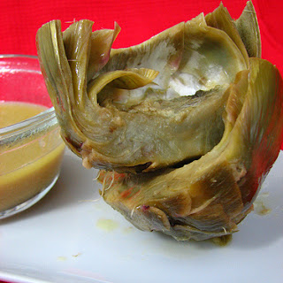 Braised Artichokes with Horseradish Butter Sauce