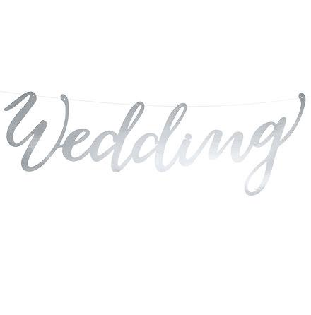 Banner Wedding, silver