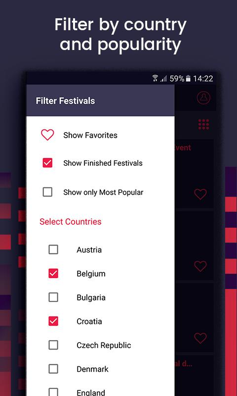 FestivAll, All Music Festivals- screenshot