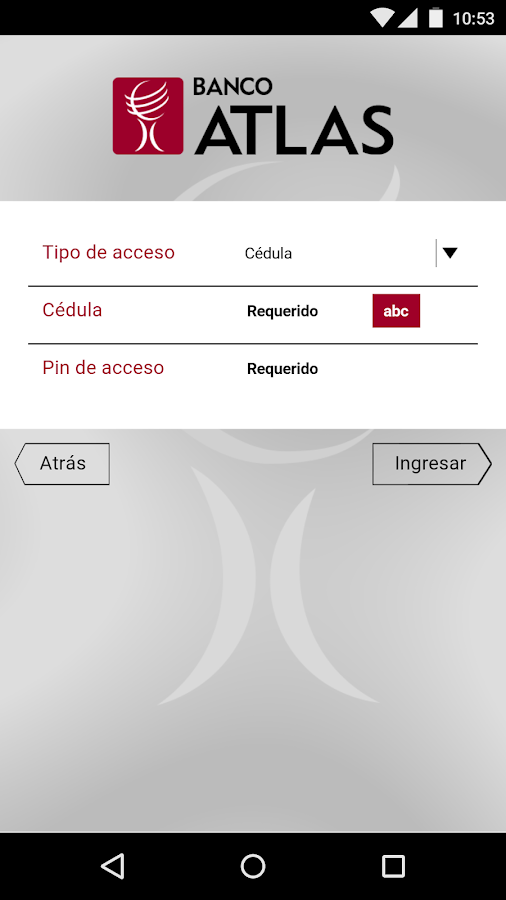 Banco Atlas Mobile- screenshot