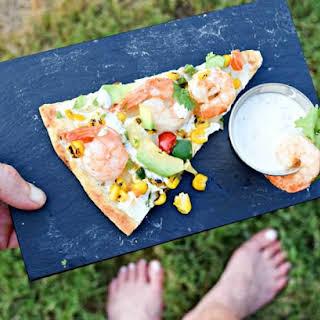 CaliCornia Shrimp & Avocado Pizza for Labor Day.