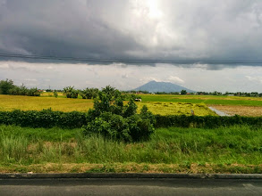 Photo: Stopover at Mabalacat Bus Terminal before this view of Mt. Arayat taken while inside the moving bus.