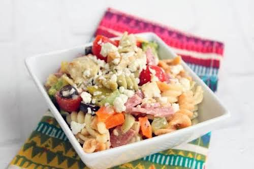 "Pasta Salad""Whenever I make this pasta salad everyone always asks me to..."