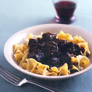 Beef Stew with Buttered Egg Noodles.