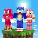 Skins+Addon+Map&Shader Sonic World For MCPE 2021 icon
