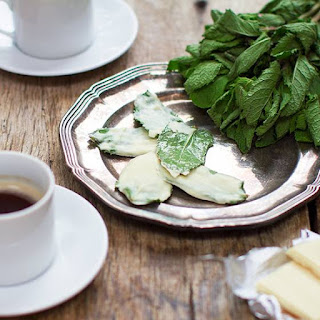 White Chocolate Mint Leaves.