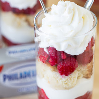 Easy Raspberry Cheesecake Double-Date Parfaits