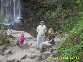 Photo: Sara, Tony, and Denise at the foot of FCF
