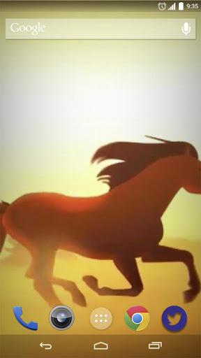 Cartoon Horses Live Wallpaper